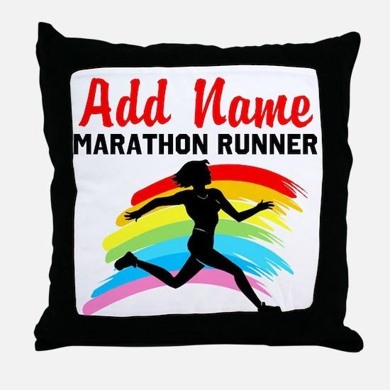 MARATHON RUNNER Throw Pillow