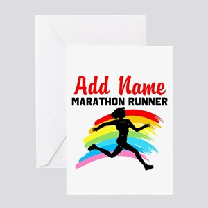 MARATHON RUNNER Greeting Card