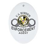 U.S. BORDER PATROL: Oval Ornament
