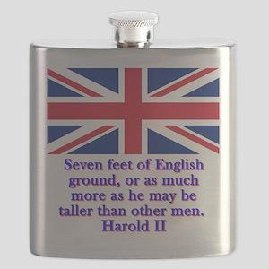 Seven Feet Of English Ground - Harold II Flask