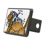 Holiday Dinosaur Rectangular Hitch Cover