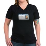Pants Pass Apparel Women's V-Neck Dark T-Shirt