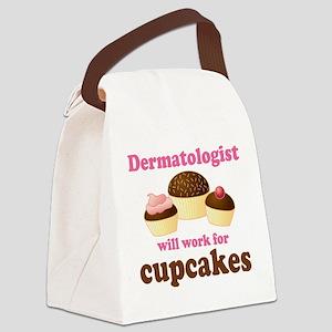 Dermatologist cupcakes Canvas Lunch Bag