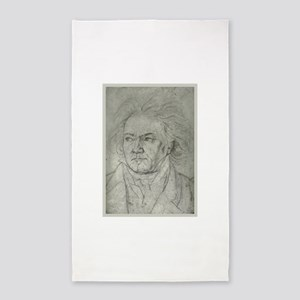 Beethoven Portrait 3'x5' Area Rug