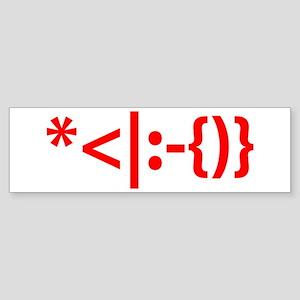 Santa with Beard Smiley Emoticon Sticker (Bumper)