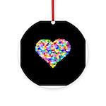 Rainbow Heart of Hearts Ornament (Round)