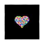 Rainbow Heart of Hearts Queen Duvet