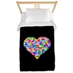 Rainbow Heart of Hearts Twin Duvet