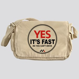Austin-Healey -Yes It's Fast Messenger Bag