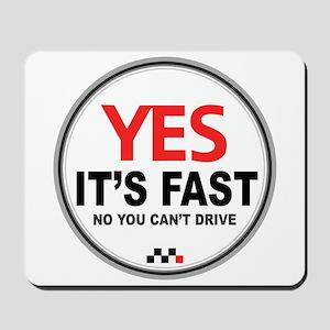 Austin-Healey -Yes It's Fast Mousepad