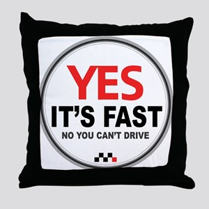 Austin-Healey -Yes It's Fast Throw Pillow