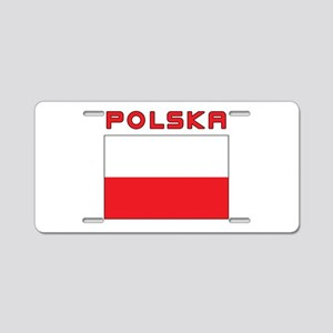 Polish Flag With Polska Aluminum License Plate