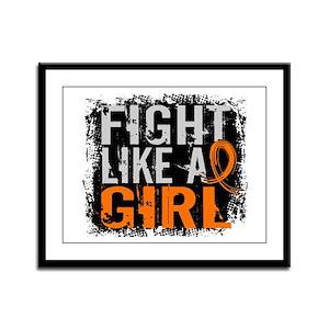 Fight Like a Girl 31.8 Kidney Cancer Framed Panel