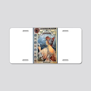 ART NOUVEAU Aluminum License Plate