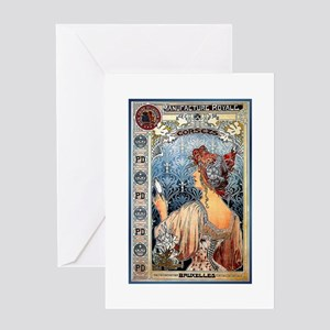 ART NOUVEAU Greeting Card