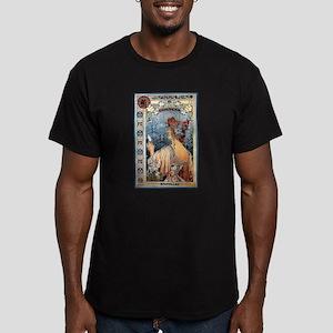 ART NOUVEAU Men's Fitted T-Shirt (dark)