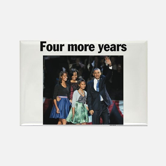 Four Mour Years: Obama 2012 Rectangle Magnet