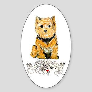 I love my Norwich Terrier Oval Sticker