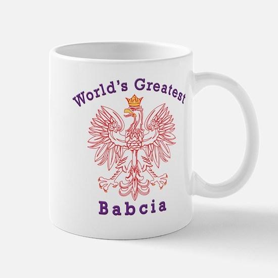 World's Greatest Babcia Red Eagle Mug