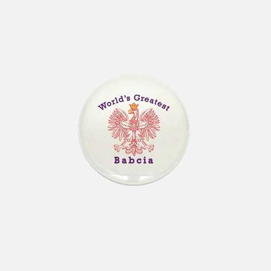 World's Greatest Babcia Red Eagle Mini Button