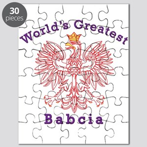 World's Greatest Babcia Red Eagle Puzzle