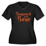 Supposed to be Sour Women's Plus Size V-Neck Dark