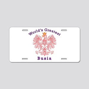 World's Greatest Busia Red Eagle Aluminum License