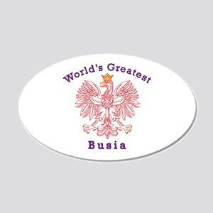 World's Greatest Busia Red Eagle 20x12 Oval Wall D