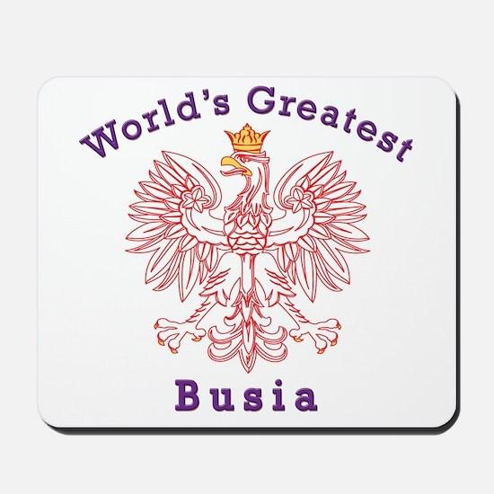 World's Greatest Busia Red Eagle Mousepad