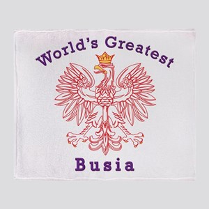 World's Greatest Busia Red Eagle Throw Blanket