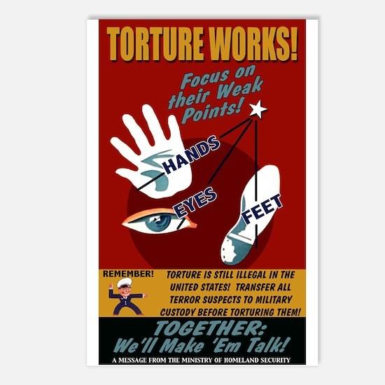 Torture Works Postcards (8 Pack)