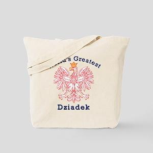 World's Greatest Dziadek Red Eagle Tote Bag