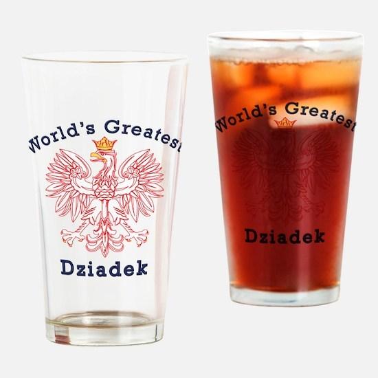 World's Greatest Dziadek Red Eagle Drinking Glass