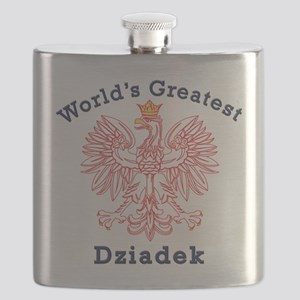 World's Greatest Dziadek Red Eagle Flask