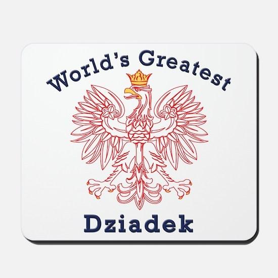 World's Greatest Dziadek Red Eagle Mousepad