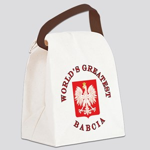 World's Greatest Babcia Crest Canvas Lunch Bag