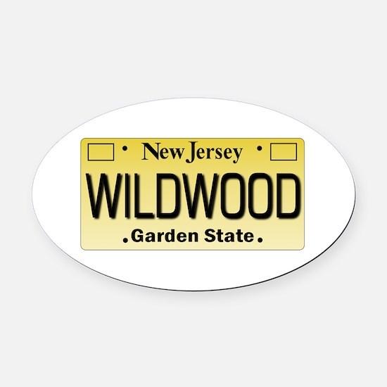 Wildwood NJ Tagwear Oval Car Magnet