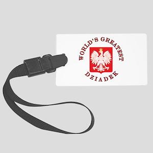 World's Greatest Dziadek Crest Large Luggage Tag
