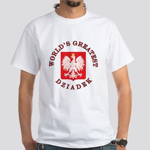 World's Greatest Dziadek Crest White T-Shirt