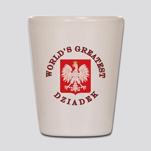World's Greatest Dziadek Crest Shot Glass