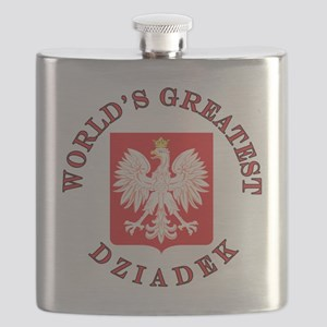 World's Greatest Dziadek Crest Flask