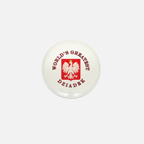 World's Greatest Dziadek Crest Mini Button