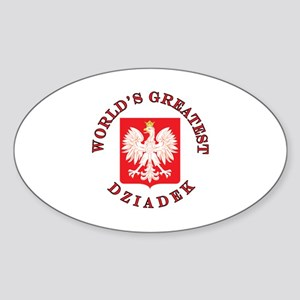 World's Greatest Dziadek Crest Sticker (Oval)