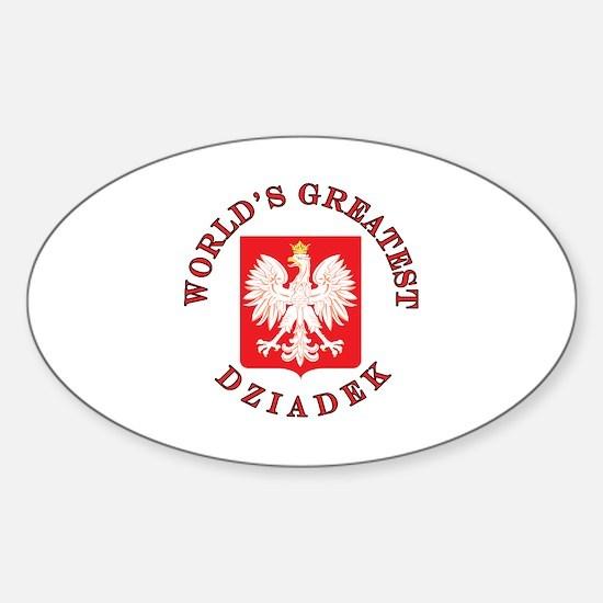 World's Greatest Dziadek Crest Sticker (Oval)