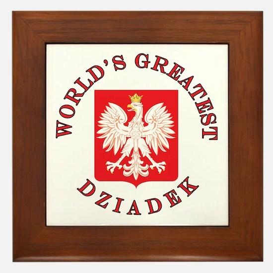 World's Greatest Dziadek Crest Framed Tile