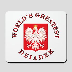 World's Greatest Dziadek Crest Mousepad
