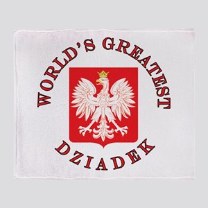 World's Greatest Dziadek Crest Throw Blanket