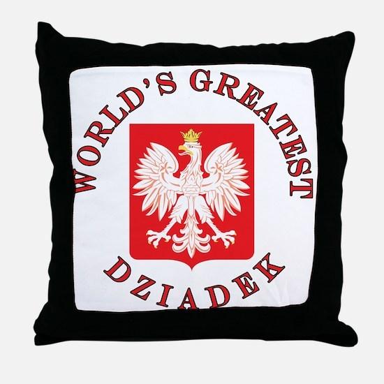 World's Greatest Dziadek Crest Throw Pillow