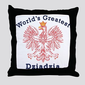 World's Greatest Dziadzia Crest Throw Pillow