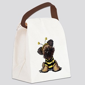 Brussels Griffon Bee Canvas Lunch Bag